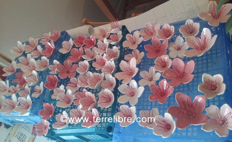 fleurs de cerisiers porcelaine