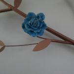 rose bleue céramique